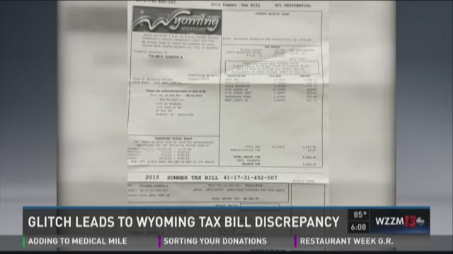 Glitch causes Wyoming tax bill irregularities