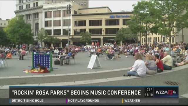 Church musicians' conference hosts concert at Rosa Parks Circle