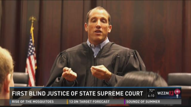 First blind state Supreme Court justice shows how he works