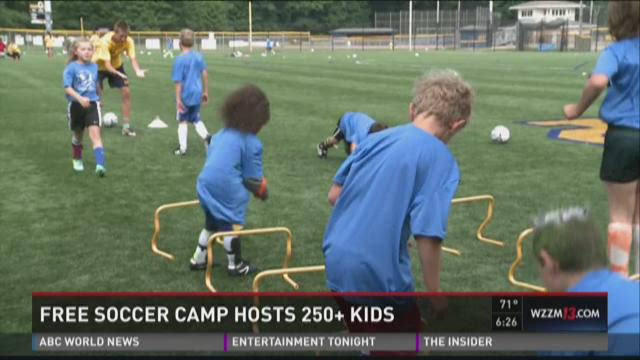 Free soccer camp hosts 250+ kids