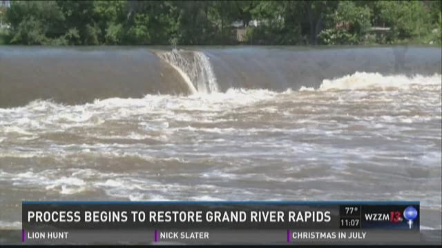 Rapids restoration moves to next phase in Grand Rapids
