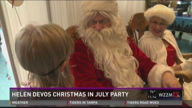 Helen DeVos Children's Hospital hosts Christmas in July