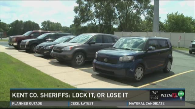 Kent County Sherrifs: Lock it or lose it