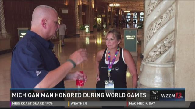 Michigan man honored at Special Olympics World Games