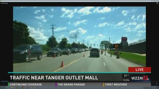 Heavy traffic around Tanger Outlets on opening day