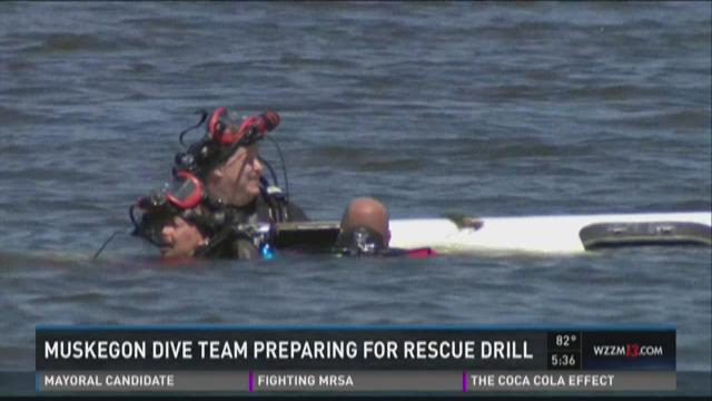 Dive team prepares for disaster drill