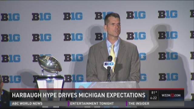 Big ten Media Day: Harbaugh Hype