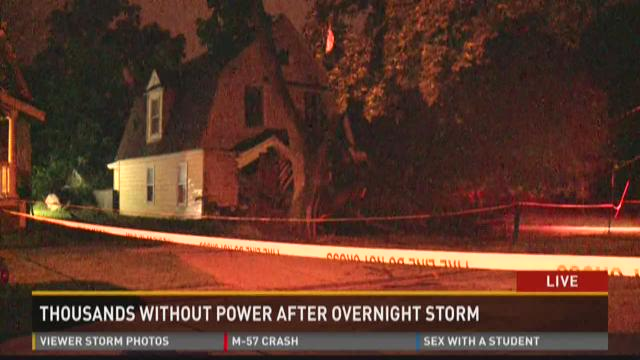 Thousands without power after Sunday storms
