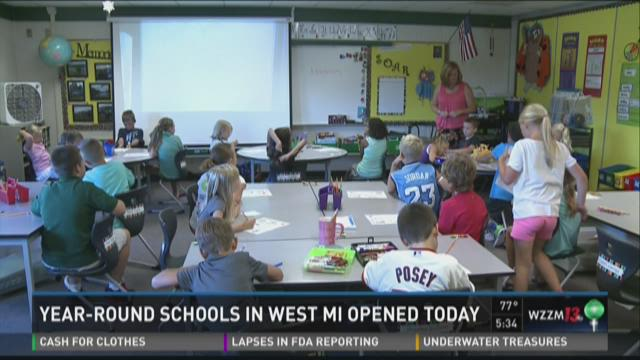 Year-round schools hold first day of classes