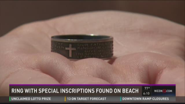 Ring with special inscriptions found on beach
