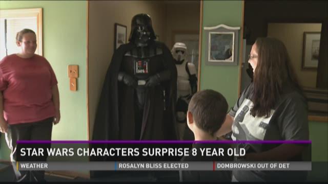 Star Wars group surprises boy fighting leukemia
