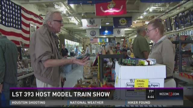 LST 393 host model train show