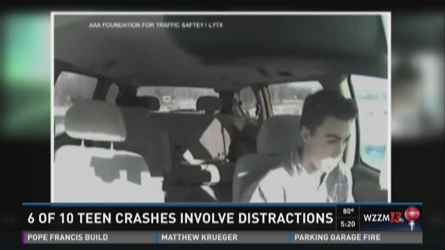 6 of 10 teen crashes involve distractions