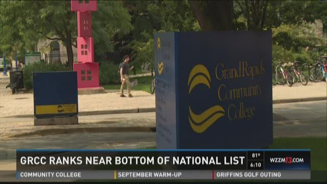 GRCC ranks near bottom of national list