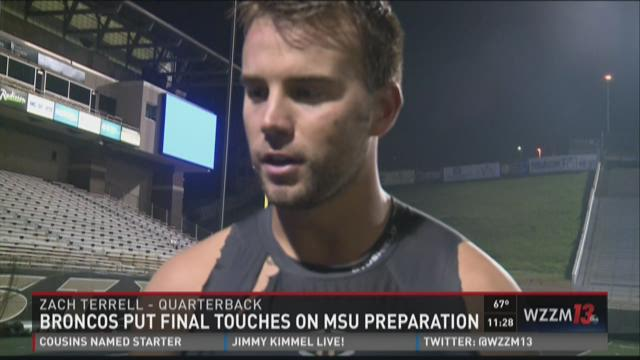 Broncos put final touches on MSU preparations