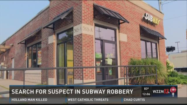 GRPD searching for suspect in Subway robbery