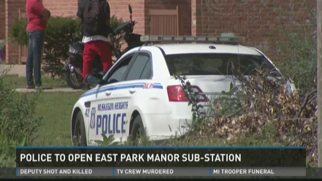 Muskegon Hts. PD re-opening East Park Manor sub-station