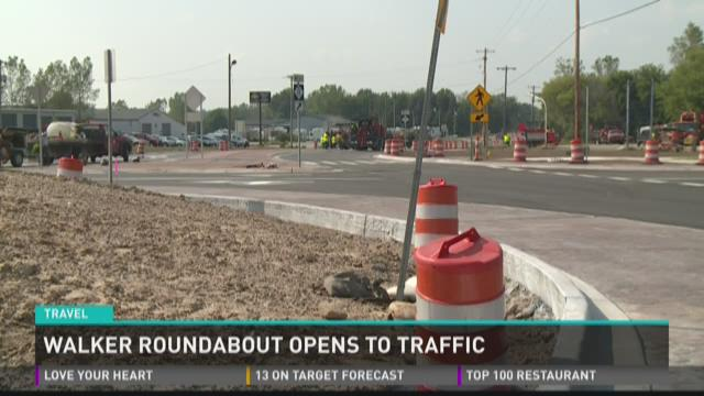Roundabout in Walker now open to drivers