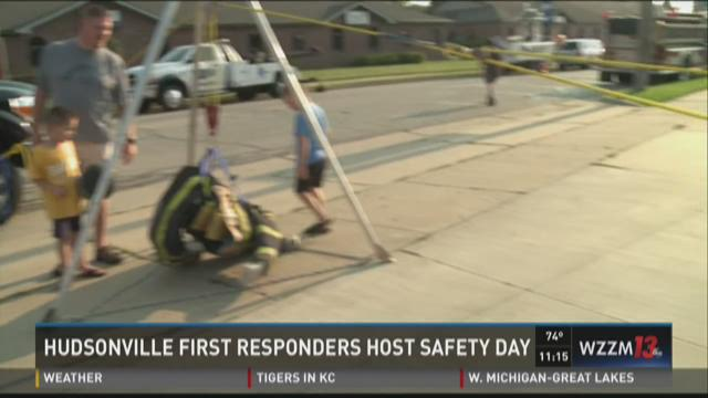 Emergency crews host safety open house in Hudsonville