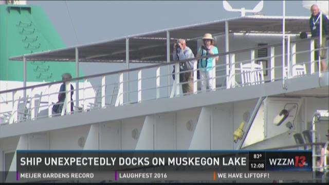 news muskegon cruise ship docks