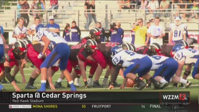Cedar Springs dominates Sparta, 35-0