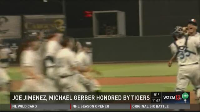 Tigers honor Whitecaps' Jimenez, Gerber