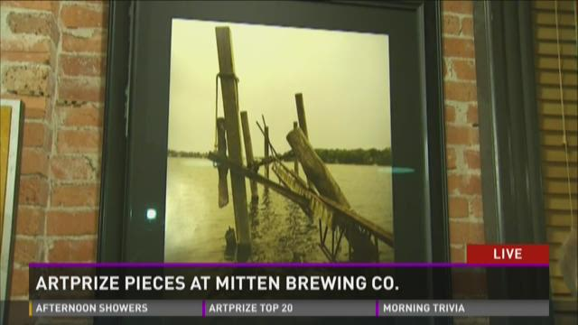 """Artists talk about pieces at """"The Mitten"""""""