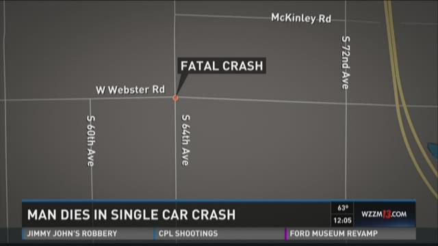 Man dies in single car crash