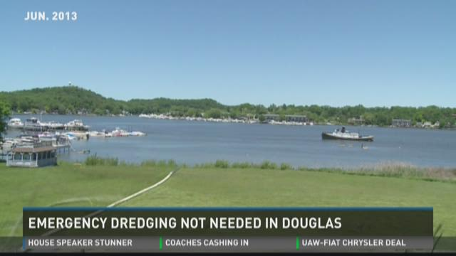 Emergency dredging not needed in Douglas
