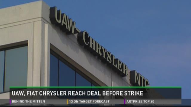 UAW, Fiat-Chrysler reach deal before strike
