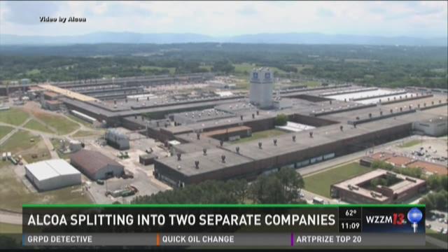 ALCOA splitting into two separate companies