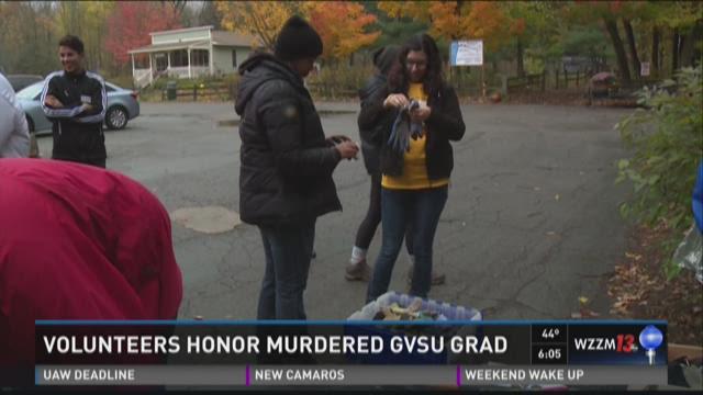GVSU students volunteer at Blandford Nature Center to honor alumna