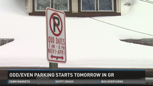 Odd/Even parking ordinance goes into effect Nov.1