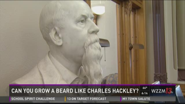 """The Hackley Public Library is inviting men to grow facial hair in the style of Charles Hackley during """"No Shave November."""""""