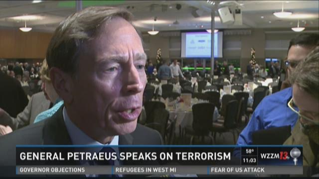 RAW: Petraeus in Hudsonville discusses counter-terrorism