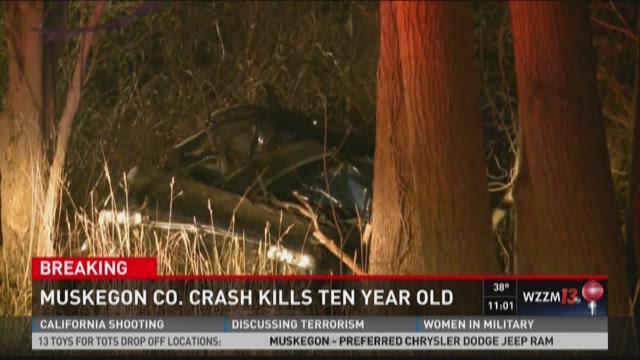 Boy, 10, killed in Muskegon Co  crash